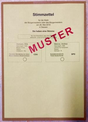 Stimmzettel Direktwahl
