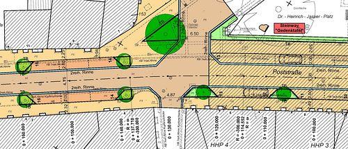 Poststraße-Ausbauplanung-Ausschnitt