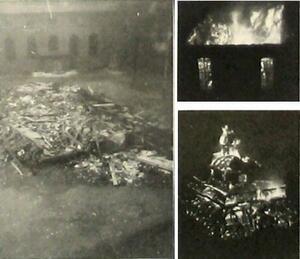 Foto Brand der Synagoge